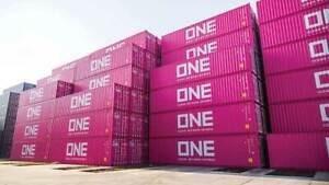 KATO (N-Scale) #80055E ONE 40' Containers (Magenta) - 2 PK NIB