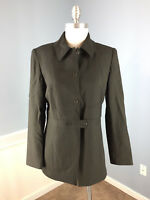 Etcetera Black Wool Silk blend Jacket Career Cocktail Excellent M 8