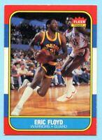 1986-87 Fleer Basketball Eric Floyd # 34 Golden State Warriors