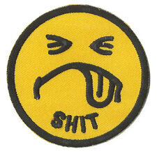 Ecusson patche Smiley emoticon dégouté thermo patch brodé