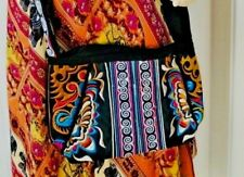 Clutch Handmade Bag Mhong Thai Hill Tribe Embroidered Messenger Long Striped Zip