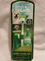 TropiClean Fresh Breath Oral Care Kit for Small Dogs & Cats 2 oz (59 mL)