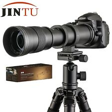 JINTU 420-800mm F/8.3-16 Super Telephoto Zoom Lens +T2 Mount FOR CANON Camera
