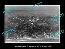 OLD 8x6 HISTORIC PHOTO BLOIS LOIR ET CHER FRANCE AERIAL VIEW OF TOWN c1920 1