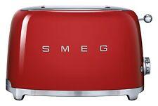 Smeg Grille-pain 2 Tranches Rouge Esthétique Années 50 6 Niveaux Brunissage,3