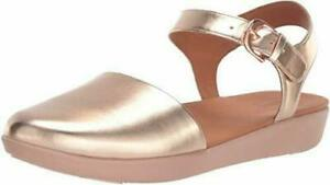 New Fitflop Cova Rose Gold Leather Sandals UK Size 6