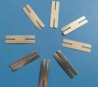 50pcs H-type 0.2x8x42mm Nickel Plated Steel Strip Sheets for battery weld B