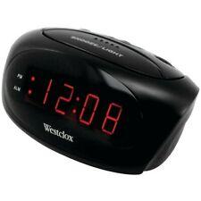 Westclox Electric Black Digital Alarm Clock 9 Minute Snooze Soft or Loud Alarm
