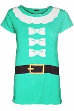 Womens Valentines Day Gold Glitter Prosecco Ho Ho Ho Cap Sleeve Ladies T Shirt