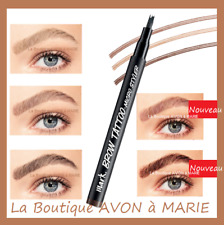 Crayon Tatouage Sourcils TATTOO BROW Mark AVON : LONGUE TENUE,  SEMI PERMANENT