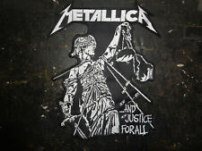Thrash Metal Backpatch .............And Justice For All..................Patch