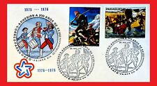 ZAYIX - 1976 Paraguay- American Bicentennial FDC - Covered Wagon - Spirt of 76