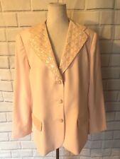 Vintage John Meyer Blazer Sz 18W Light Pink Beaded Dressy Formal Party Jacket