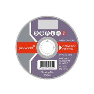 "(PACK OF 5) Parweld 125mm Cutting discs (5"") metal grinder discs 125 x 2.5mm"