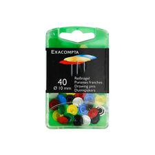 Exacompta - Boîte de 40 punaises couleurs assorties