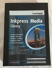 Inkpress Glossy, Single Sided Gloss Surface Inkjet Paper, 240gsm, 10.4 Mil., 4x6