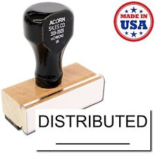 Acorn Sales - Large Distributed Rubber Stamp (With Line) (Black Ink)