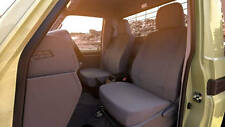 Genuine Toyota LandCruiser 70 Series Double Cab Canvas Seat Covers Front Pair
