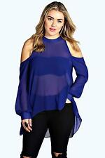 Blouse Polyester One Shoulder Tops & Shirts for Women