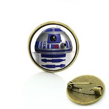 Rsm1 Star Wars R2D2 Globe Metal Pin brooch prop badge darth vader cosplay