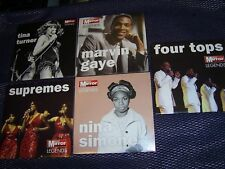 5 x 'MIRROR LEGENDS' PROMOS Supremes, Four Tops, Marvin Gaye, Tina, Nina Simone