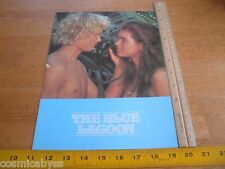 1980 The Blue Lagoon movie screening program credits folder Brooke Shields