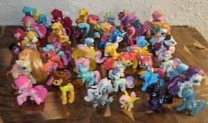MLP MY LITTLE LOT OF 48 PONYVILLE MINI BLIND FRIENDS GLITTER TRANSPARENT HTF