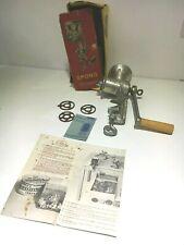 More details for boxed vintage no.25 spong silver kitchen national mincer slicer + parts ab81