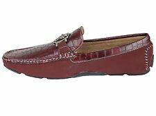 Men's PLATINI  whit red faux leather loafers slip on moccasins shoes PSH3507,09