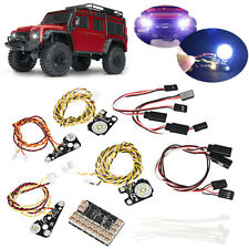 AU For TRAXXAS Trx4 RC CAR LED Front + Rear lights + Bracket Lamp Cups Lampshade