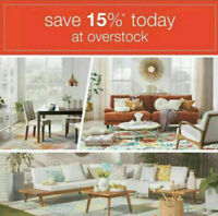 Overstock.com Coupon 15%~SENT FAST~Promo Code Expires November 30 2020 _11/30