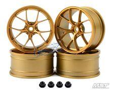 MST Gold RID RC 1/10 Drift Car Wheels offset 3 (4 PCS) 102055GD New