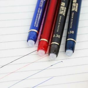 0.38mm Erasable Gel Pen With Blue Red Black Refills School Office Stationery