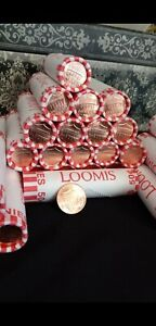 10 New Penny's rolls FROM Bank Unknown Date unopened guaranteed!