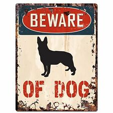 PP2268 BEWARE OF DOG Plate Chic Sign Home Store Wall Decor Gift