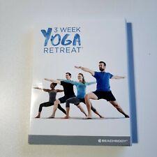 Beachbody 3 Week Yoga Retreat 4 DVD Set Complete (4 Discs, Guidebook, Planners)