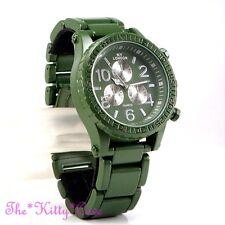 Retro Matt Green Khaki Army Diver Mariner Aviator Miltary Style Heavy SS Watch