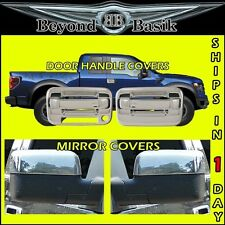 2004-2008 F-150 Chrome 2 Door Handles(1KH,W/KEYPAD)+Top Mirror COVERS Overlay