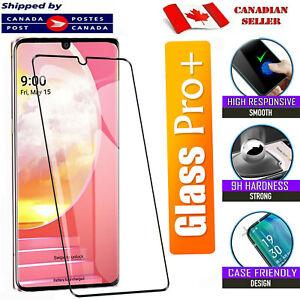 For LG Velvet Premium Black Tempered Glass Full Coverage Curved Screen Protector