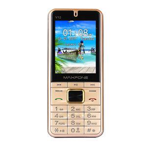 V12 Push Button Mobile Phone 2.8 inch Quad Sim 4SIM Card Bluetooth CellPhone