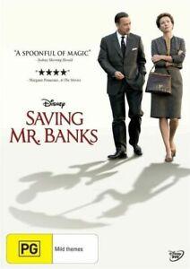SAVING MR BANKS DVD Tom Hanks Emma Thompson - Disney Mary Poppins Themed Movie