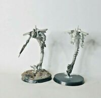 Warhammer 40k Metal Necrons Canoptek Wraiths x2. Some Metallic Painted See Pic