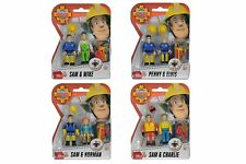 Fireman Sam 4 x 2 Pack figure a accessories Sam Elvis Penny Norman Charlie Mike