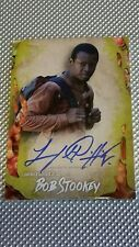 2016 wALKING dEAD sURVIVAL bOB sTOOKEY iNFECTED aUTO #67/99 LAWRENCE gILLIARD jr