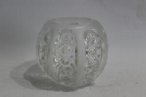 PEILL Vase Kristall Bleikristall 70er Jahre Design Kugel-Form