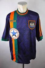 Newcastle United Trikot 1997-98 Gr. L Adidas blau Away Jersey Brown Ale vintage