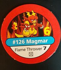 Pokemon Master Trainer #126 Magmar Flame Thrower Red Pog Playing Chip 1999