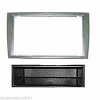 PEUGEOT 308 SILVER DOUBLE DIN WITH POCKET FASCIA FACIA FP-04-06/S