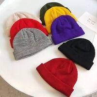 New Stylish Beanie Hat Warm Ribbed Winter Turn Ski Unisex Fisherman Docker Hat