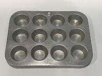 Vintage MIRRO Dozen Cupcake Mini Muffin Pan Aluminum Tin 12 count
